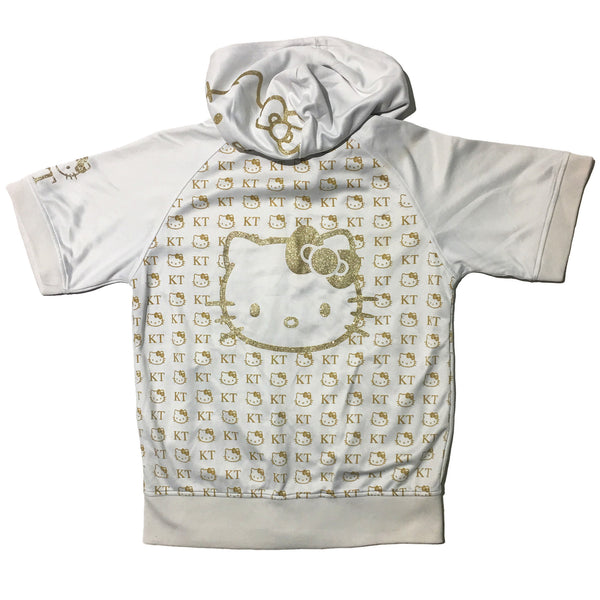Hello Kitty Gold Embellished Short Sleeve Hoodie