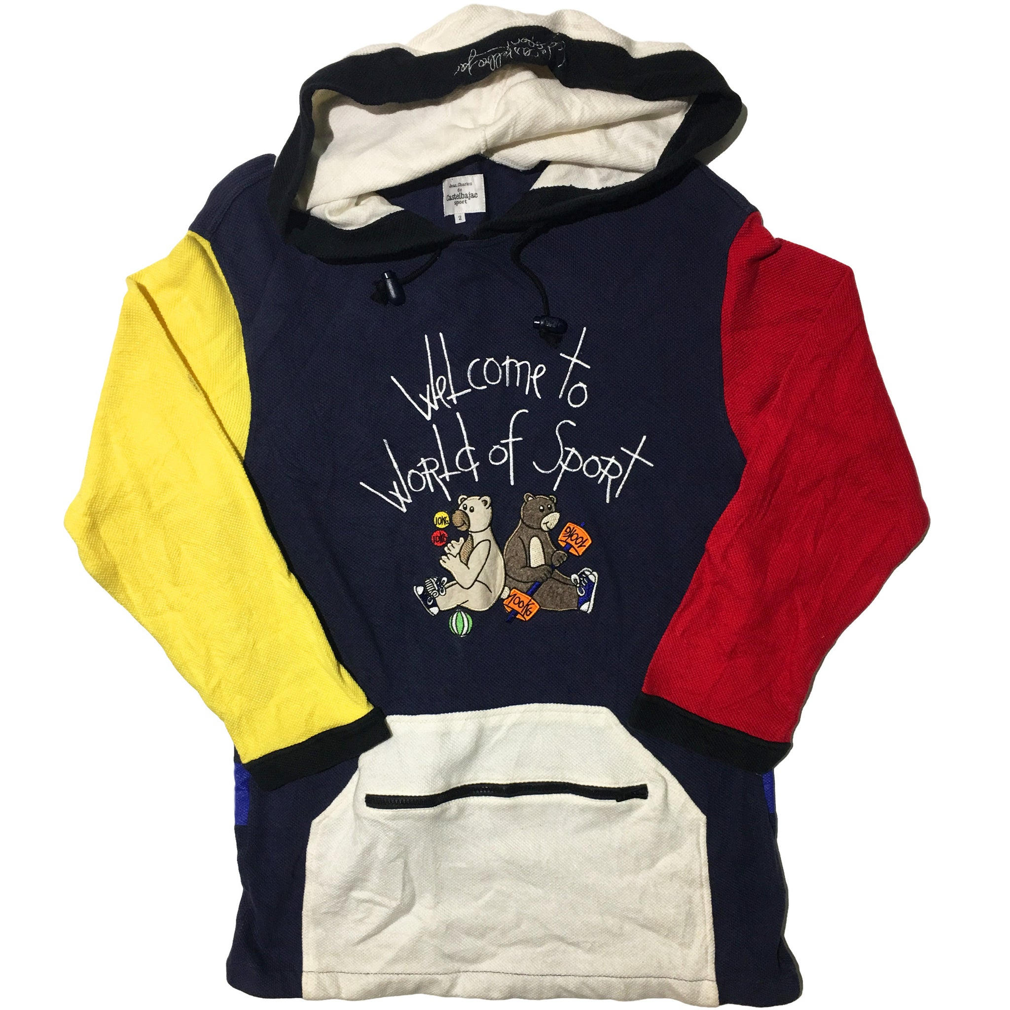Castel Bajac Welcome to World of Sport Yellow Red White Hoodie