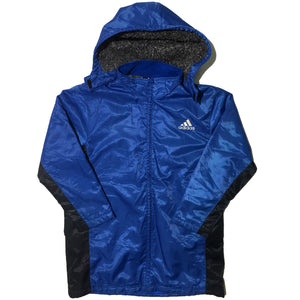 Blue Adidas Jacket with Removable Hood