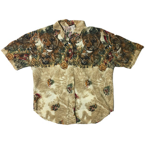 Denim Republic Lioness Short Sleeve Button Up Shirt