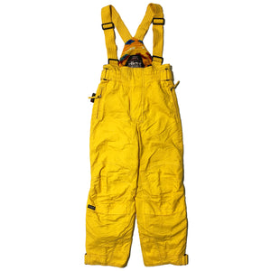 Ellesse by Goldwin Yellow Snow Pants With Suspender Straps