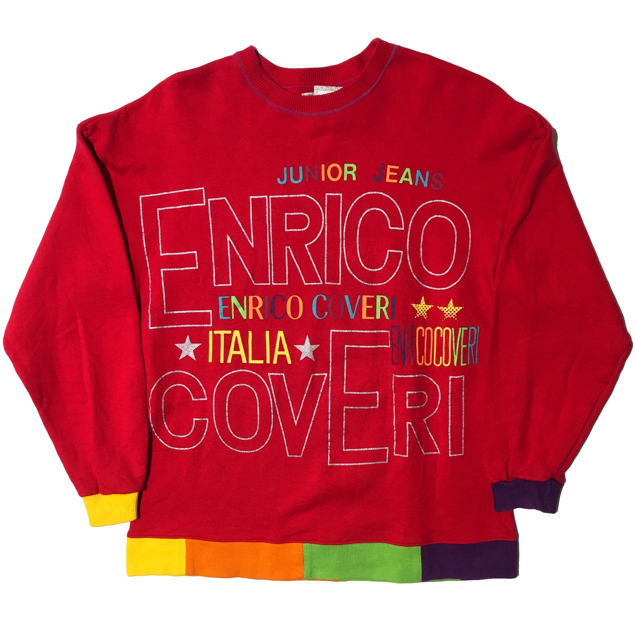 Enrico Coveri Bambino Rainbow Type Sweater