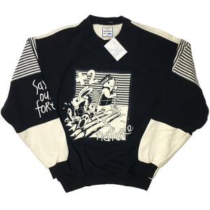 Jean-Charles de Castelbajac +2 Nature Sport Heavy Knit Sweater with Embroidery