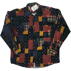 Robert Le Cam Mixed Swatch Button Up Shirt