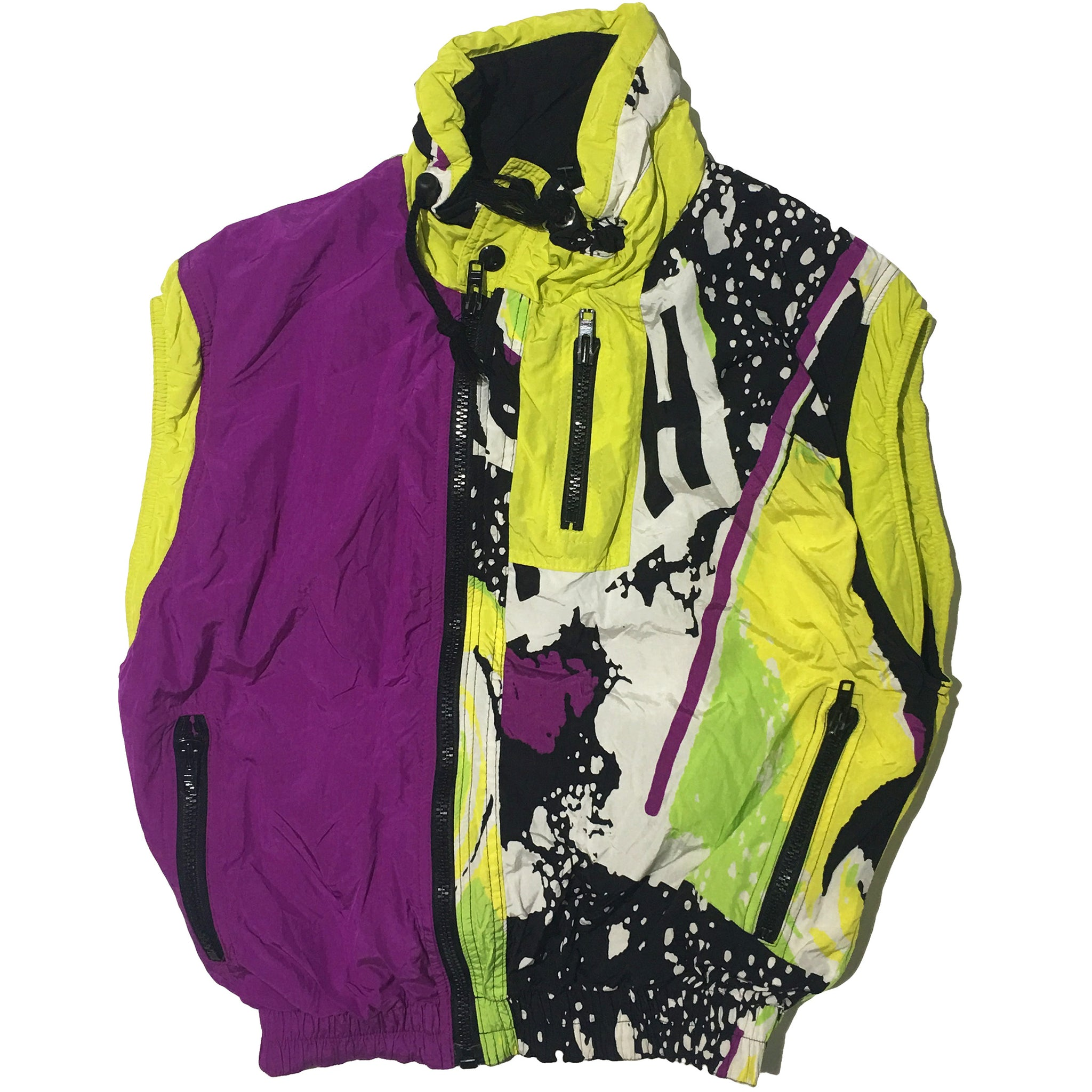 """Boy"" Purple and Dynamic Yellow Vest"