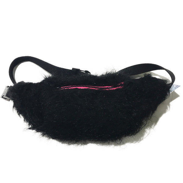 Black Faux Fur Fanny Pack