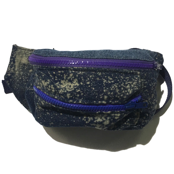 Blim Denim Bleach Splatter Fanny Pack