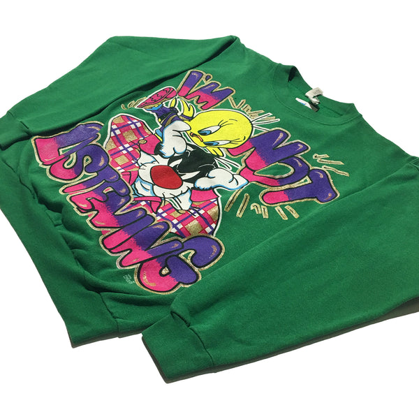 "Tweety & Sylvester ""I'm Not Listening"" Sweater"