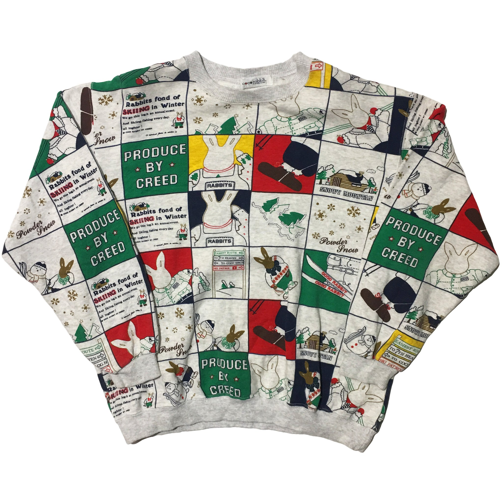 Coco Rabbit Panel Print Sweater