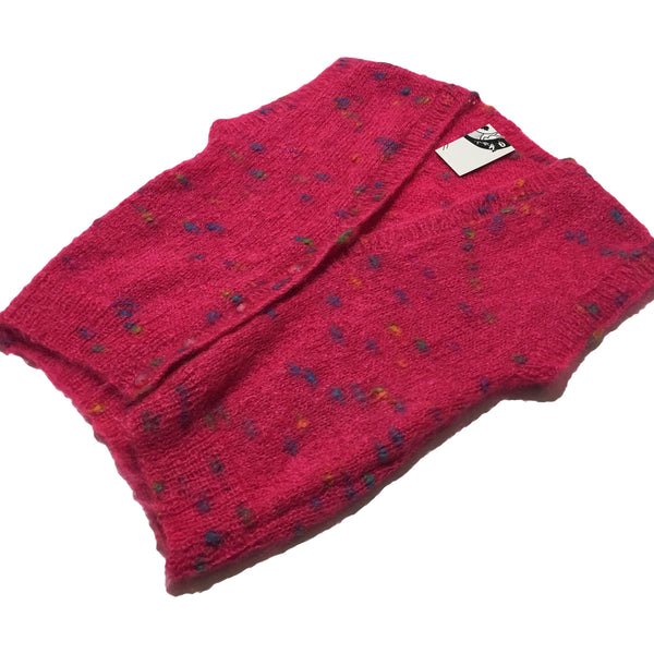 Pink Spotted Fleece Sweater Vest
