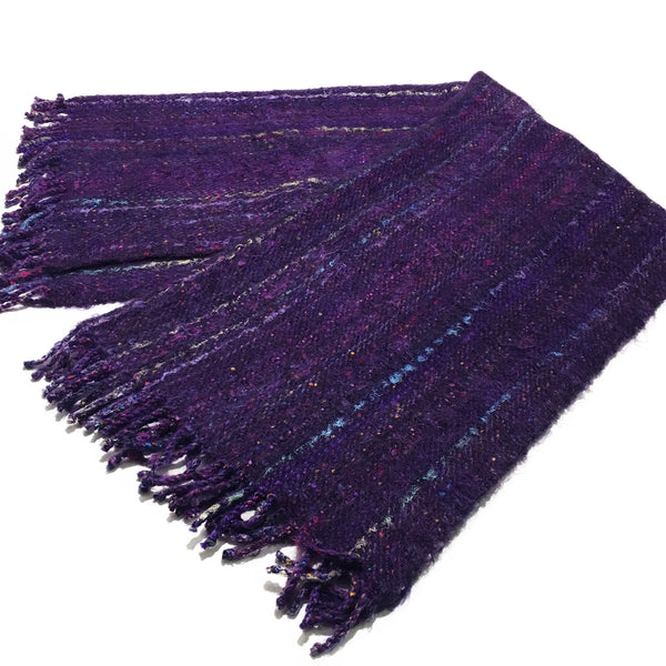 Purple Acrylic Scarf
