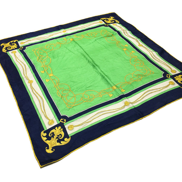 Green Silk Square Scarf