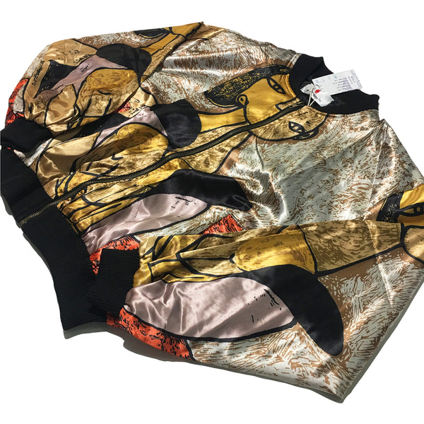 Gold Picasso Bomber Jacket