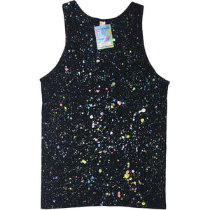 Black Hand Splattered Tank Top
