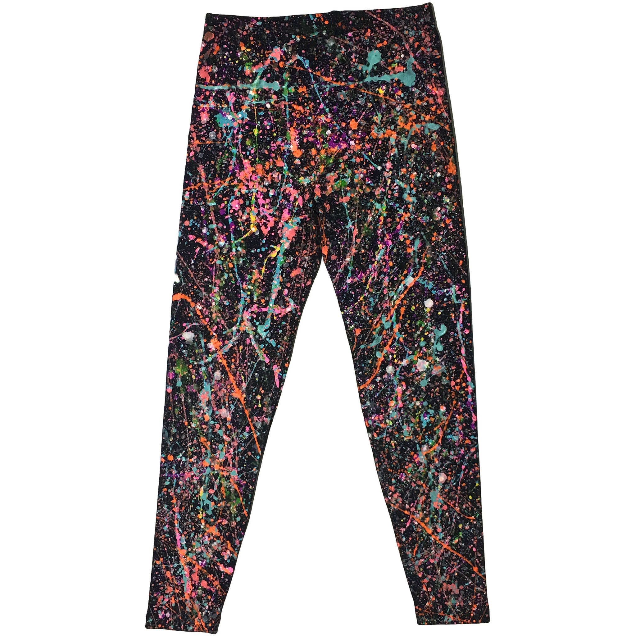 Black Hand Splattered Leggings