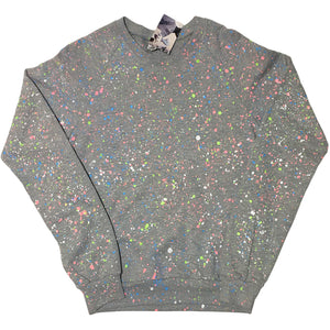 Grey Hand Splattered Sweater