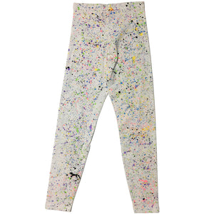 White Hand Splattered Leggings