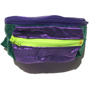 Blim Purple & Green Shimmery Fanny Pack