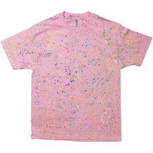 Pink Hand Splattered Tee
