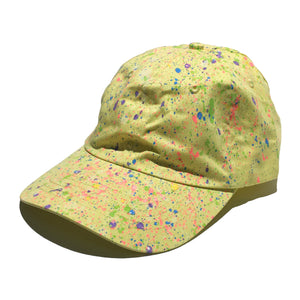 Yellow Hand Splattered Dad Hat