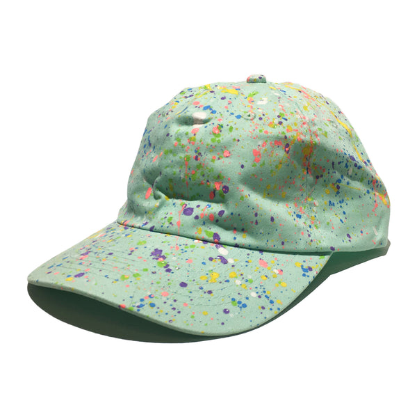 Blue Hand Splattered Dad Hat