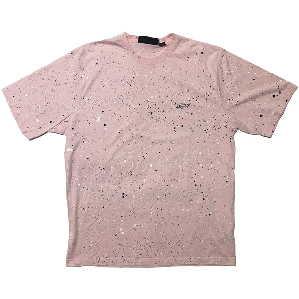 George Norman Pale Pink Hand Splattered Tee