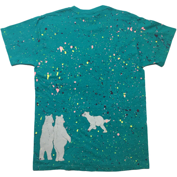 Bear Green Hand Splattered Tee