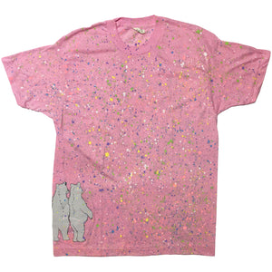 Bear Pink Hand Splattered Tee
