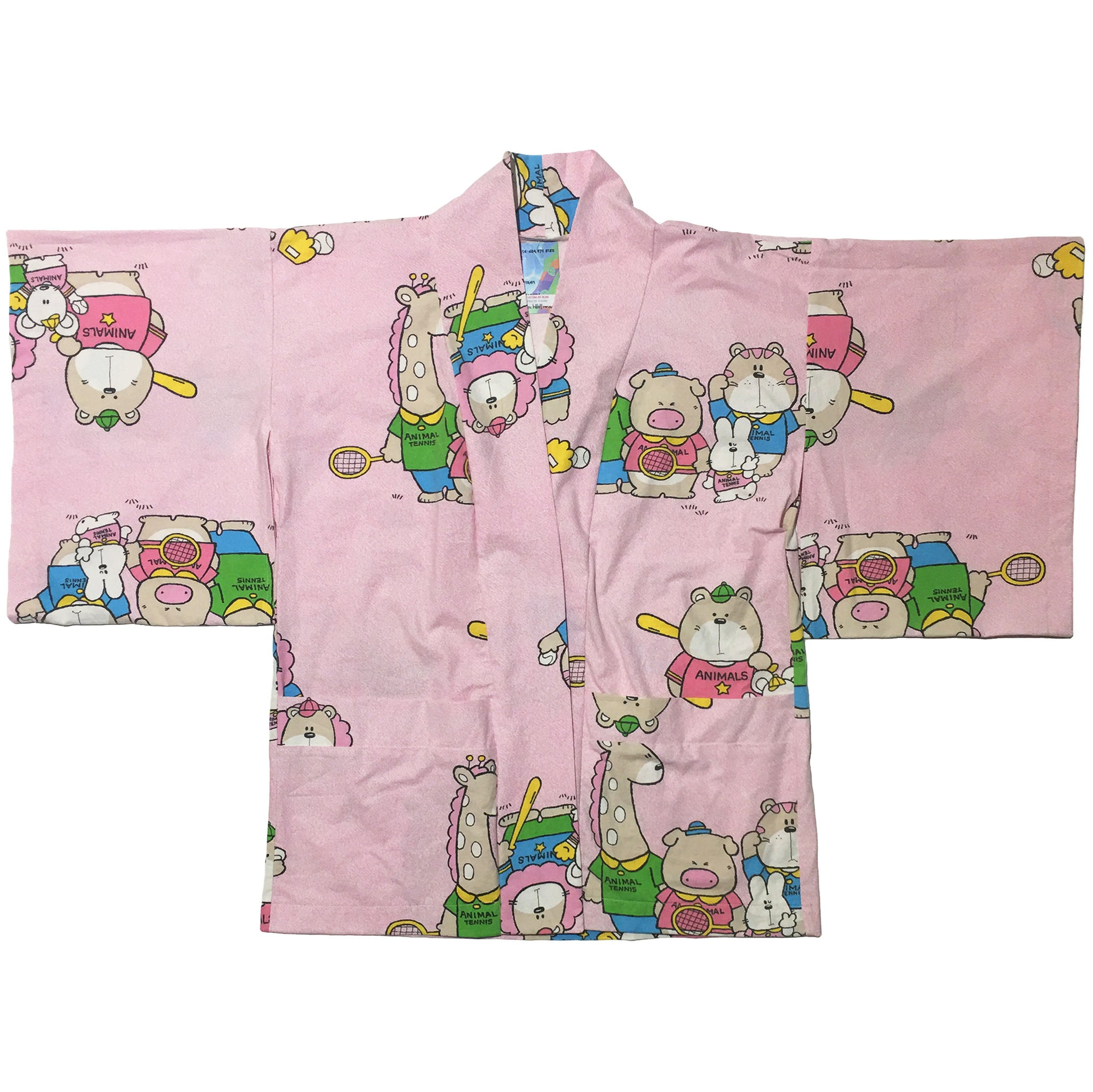 Animal Tennis Friends Print Haori