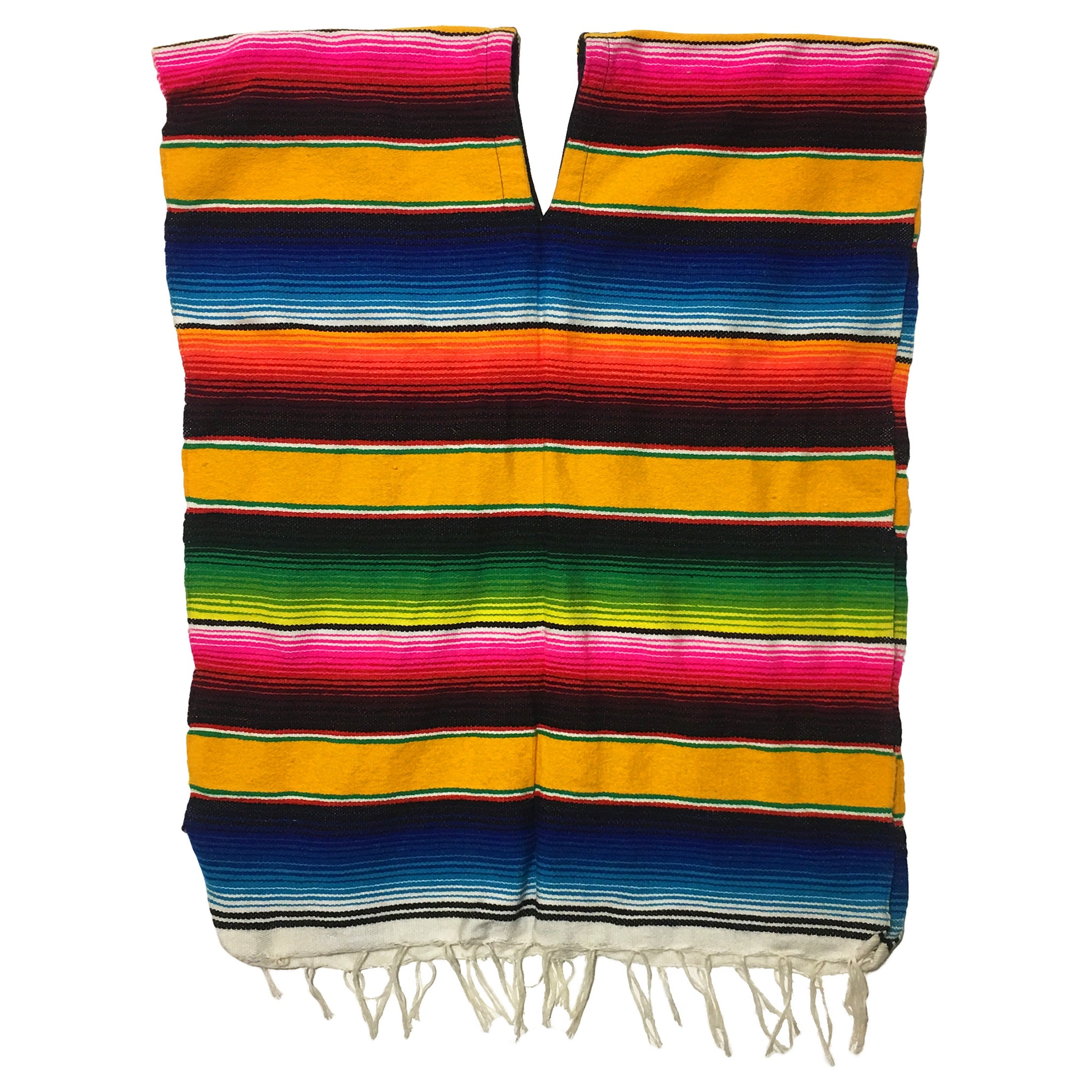 Rainbow Coloured Poncho