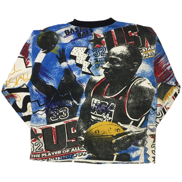 Red hot blue vintage basketball sweater