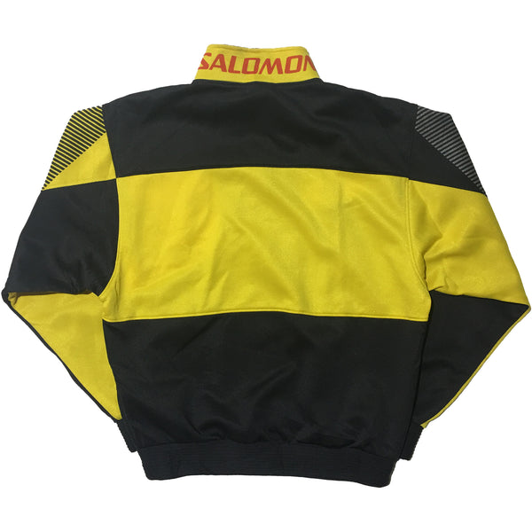 Salomon Yellow and Black Colour Block Jacket