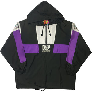 Ennerre Purple and Black Half Zip Jacket