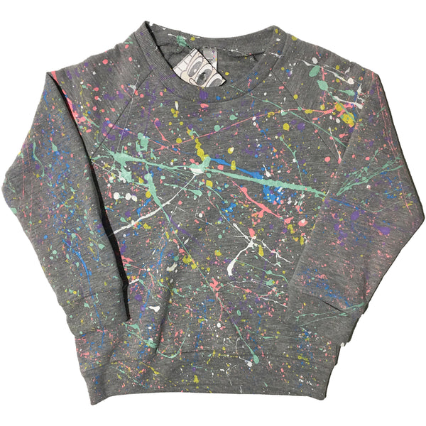 """Toddler Hand Splatter Sweater"" by Blim"
