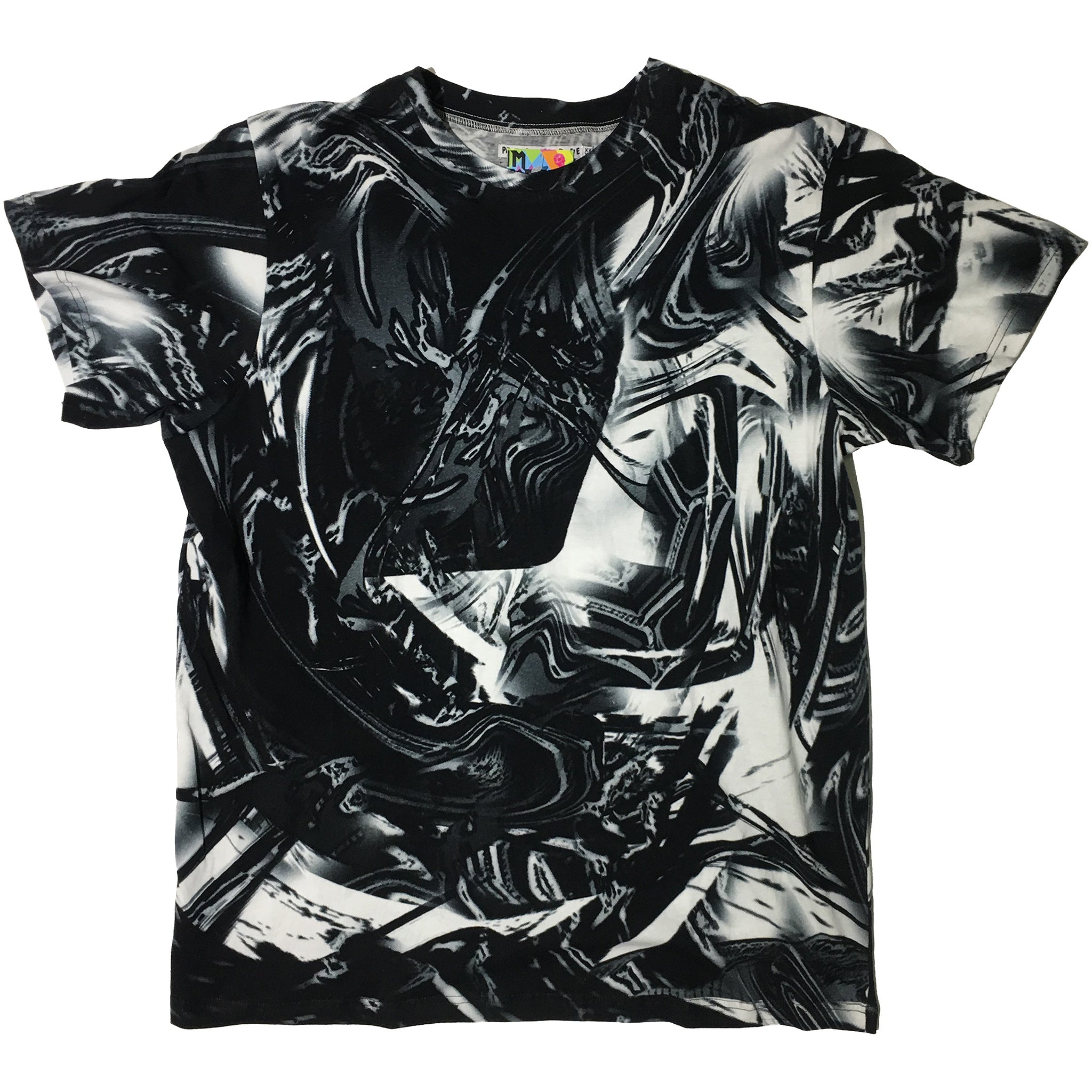 """Black and White Abstract Tee ""by Print All Over Me"