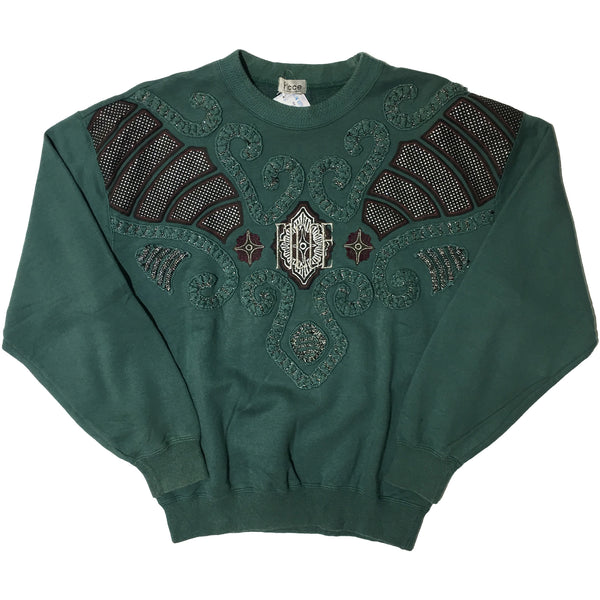 Forest Green Embellished Ficci Sweater