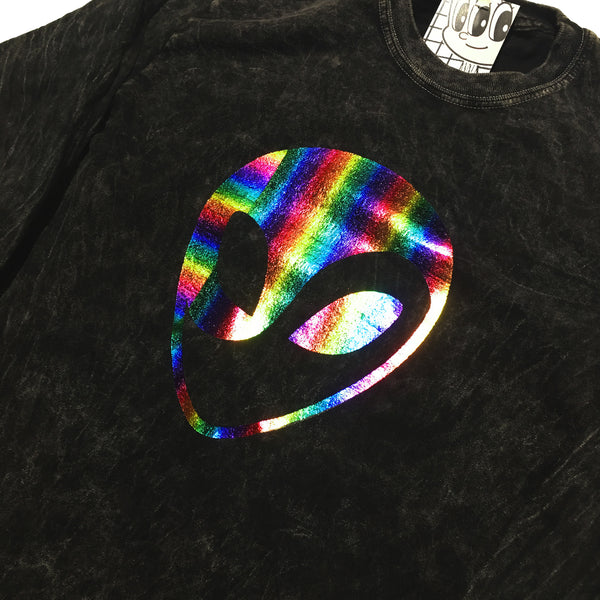 """Rainbow Alien"" Longsleeve by Blim"