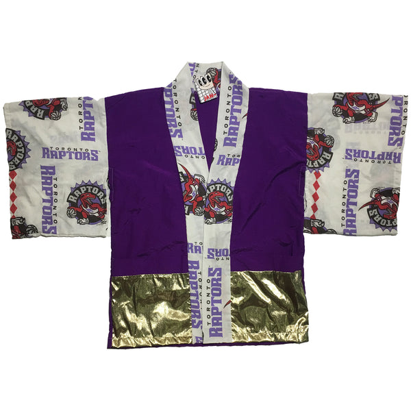 Classic Toronto Raptors Pattern Purple and Gold Haori