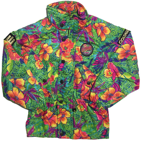 Extreme Line by Goldwin Abstract Floral Print Jacket