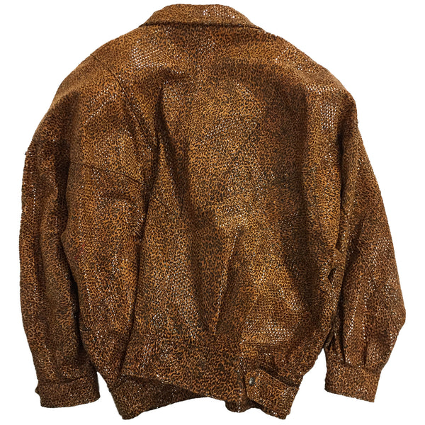 Di Capra Leopard Print Gloss Finish Jacket