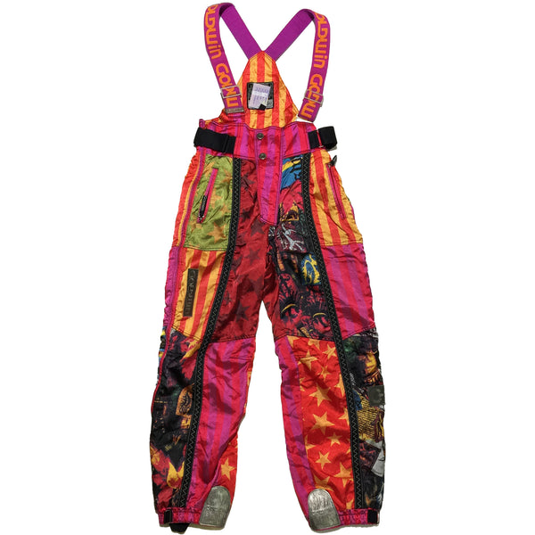 Goldwin Abstract Multi Pattern Snow Pants (Red)