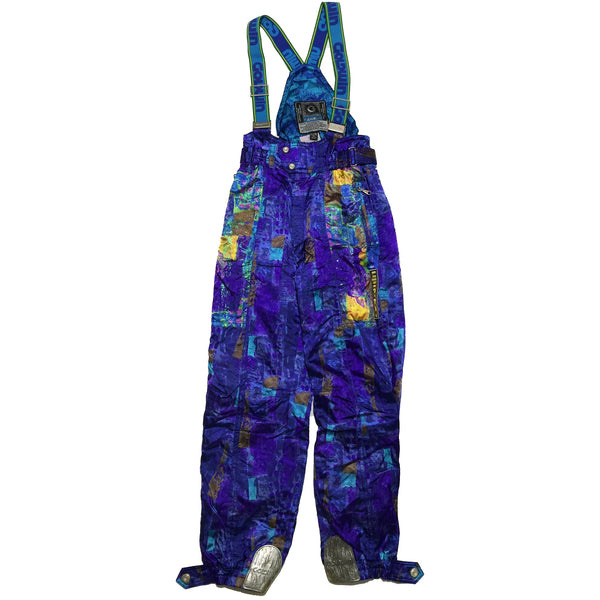 Goldwin Abstract Multi Pattern Snow Pants (Blue)