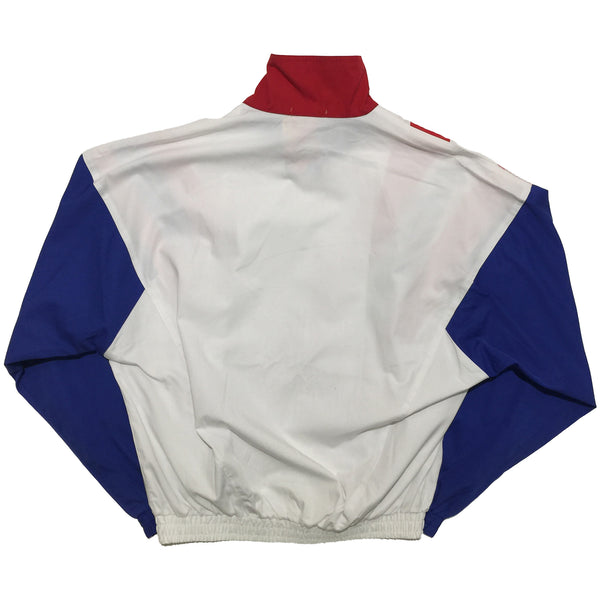 "Yonex ""A Winning Touch"" White, Red, and Blue Track Jacket"