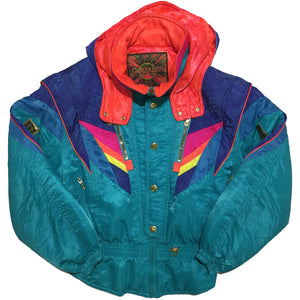 Goldwin Teal and Rainbow Accent Jacket
