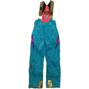 Goldwin Teal and Gold Accent Ski Pants