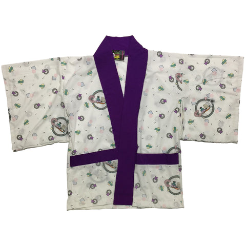 80s Retro and Purple Trim Haori
