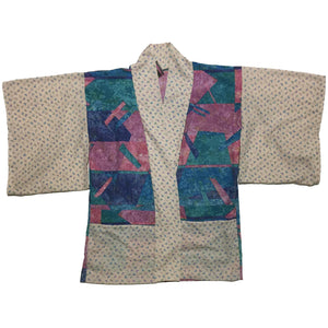 Abstract and Mini Triangle Print Haori