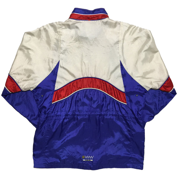 Goldwin White, Blue, and Red Track Jacket