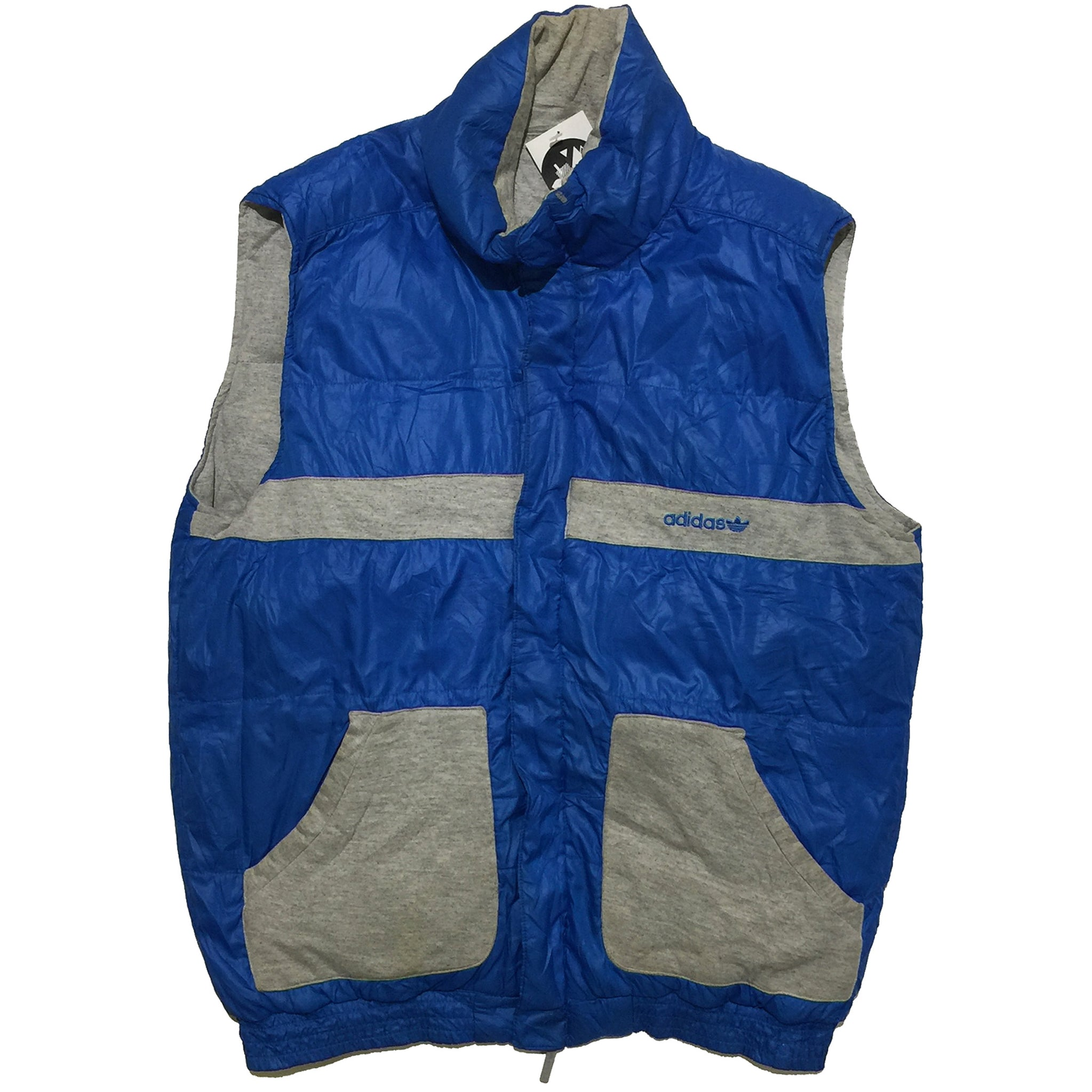Adidas Blue and Grey Vest