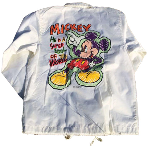 Mickey Mouse White Coach Jacket